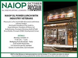 NAIOP Developing Leader Power Lunch with Industry Veter...