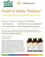 Health and Vitality Seminar from LifeSeasons™