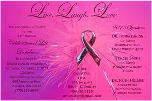 Exclusive Invitation - 11th Annual Celebration of Life...