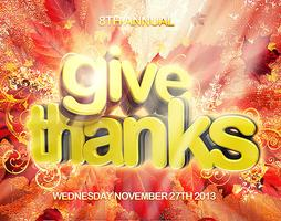 GIVE THANKS 2013 - SOLD OUT!