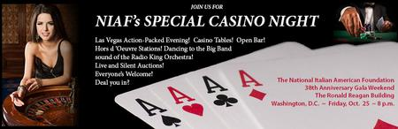 The National Italian American Foundation's Casino Night