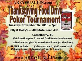 Thanksgiving Food Drive Poker Tournament