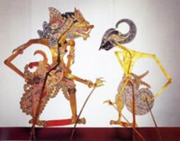 Indonesian shadow puppetry: Perang Kembang (The Flower...