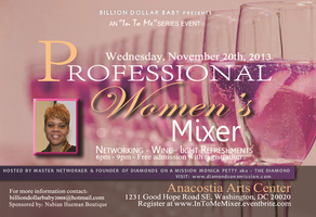 """PROFESSIONAL WOMENS MIXER an """"In To Me"""" Series Event"""