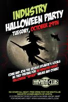 Industry Halloween Party: Tuesday October 29