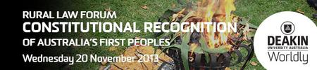 Constitutional Recognition of Australia's First Peoples