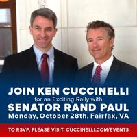 Rally With Ken Cuccinelli And Special Guest Senator Ran...