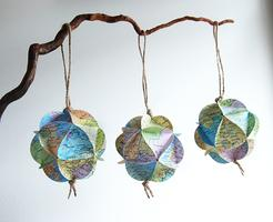 Origami Ornaments or Garlands with Recycled Materials