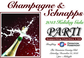 PARTI Group Champagne & Schnapps Holiday Gala