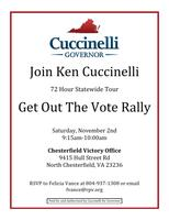 Ken Cuccinelli GOTV Rally - Chesterfield Victory Office