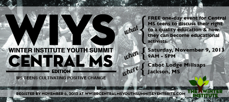 Winter Institute Central MS Youth Summit