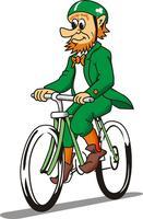 Pedaling for St. Patrick's Day Bicycle Ride