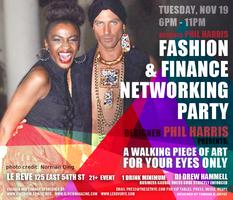 Fashion And Finance Networking Party - Designer Phil...