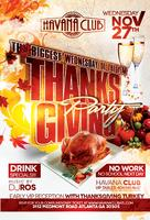 Thanksgiving Party: Wednesday November 27 at Havana...