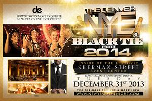 Denver New Year's Eve Black Tie Party 2014
