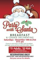 """Cafe Adobe's """"Party With Santa: Breakfast & Cookie..."""