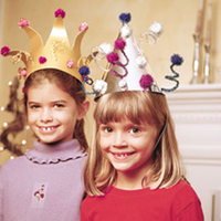 New Year's Eve Party Hat Craft for Grades K-5 at 1:00...