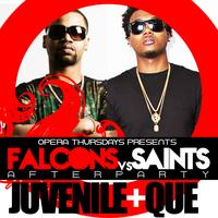 Juvenile and Que Host Falcons vs Saints afterparty Thur...