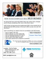 Things you must know to sell HUD Homes