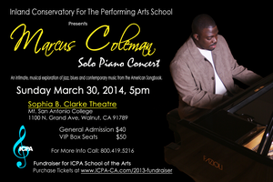 Marcus Coleman: Solo Piano Concert Fundraiser