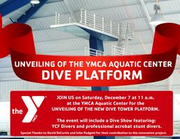 Unveiling of the YMCA Aquatic Center Dive Platform