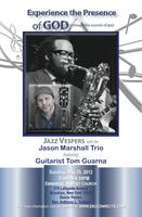 Jazz Vespers with the Jason Marshall Trio featuring Gui...