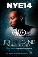 New Year's Eve with John Legend at HAZE Nightclub