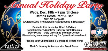 RAFFLES Annual Holiday Party - in conjunction with the...