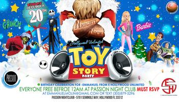 "TOY STORY ""Christmas Party"" @Passion Nightclub  FREE..."