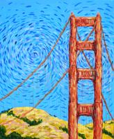 Pa'ina Paint Club - Golden Gate Bridge a la Van Gogh