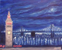 Pa'ina Paint Club - Ferry Building in Twilight