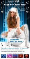 Tonight Tantalizing NEW YEARS EVE 2014 @ supperclub |...