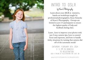Intro to dSLR Class