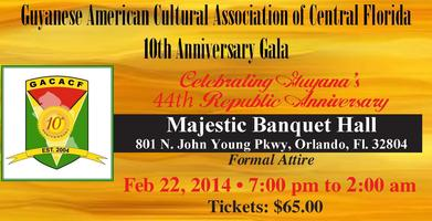 GACACF's 44th Republic Ball - Celebrating our 10th...