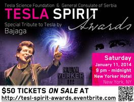 TESLA SPIRIT AWARDS BENEFIT with  special tribute by BA...