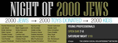 Night of 2000 Jews:Charity Toy Drive Party: Largest...