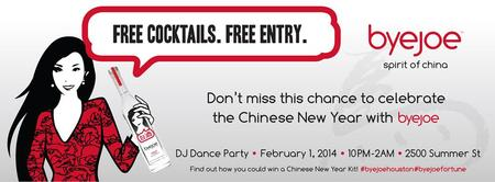 Free Cocktails. Free Entry. Byejoe Chinese New Year...