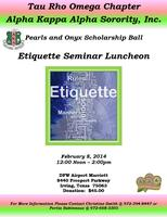 2014 Pearls and Onyx Etiquette Luncheon