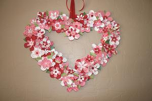 Heart Shaped Wreath Valentine Craft