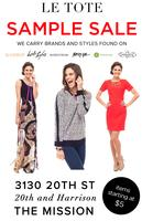LE TOTE  Clothing and Accessory Sample Sale