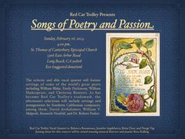 Red Car Trolley Presents: Songs of Poetry and Passion