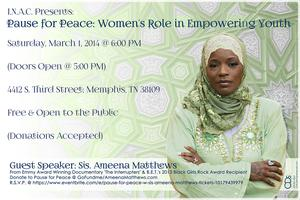 Pause for Peace w/ Sis. Ameena Matthews