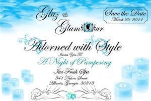 Adorned with Style Glitz and Glamour Spa Party