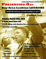 Preserving Our Bay Area Lesbian Legacies: Will History...