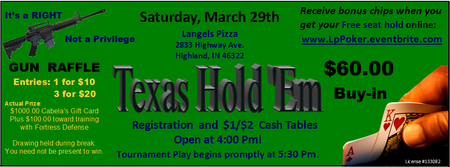 Texas Hold 'Em Poker Tournament - March 29th
