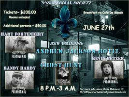 Andrew Jackson Hotel Ghost Hunt with Syfy stars Deep So...