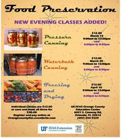 Food Preservation Classes - Mar 13, Mar 20 and Apr 10