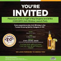 2GINGERS Irish Whiskey Launch Party
