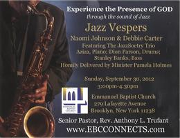 Jazz Vespers with Debbie Carter & Naomi Johnson, with...