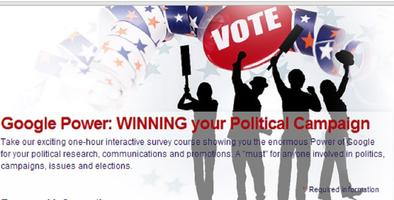 Webinar: Google and Politics and Win